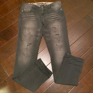 Guess Jeans Starlet distressed with stud pockets
